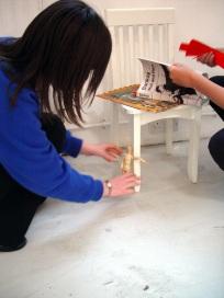 Architectural space, movement & installation workshop: Blank Space. CiCi Blumstein 2009