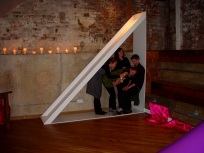 The Measuring Room - installation view [as Love Triangle]. CiCi Blumstein 2009.