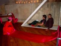 LOVE TRIANGLE - installation view, The Twilight Club, The Basement, Brighton. CiCi Blumstein 2009.