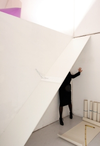 The Measuring Room - BLANK Gallery installation view, CiCi Blumstein 2008. Photo: © Bip Mistry
