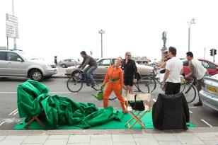 Drive-Thru Silence & The Green Belt Take-Away. CiCi Blumstein & Joseph Young 2009. Photos: © Bip Mistry