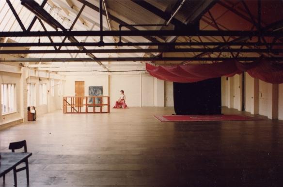 CiCi Blumstein in rehearsal, The Cauldron Studios ca. 1993. Photo: Vic Llewellyn