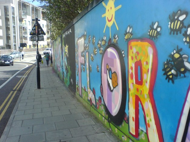 Bee Graffiti, Brighton. Photo: CiCi Blumstein 2011