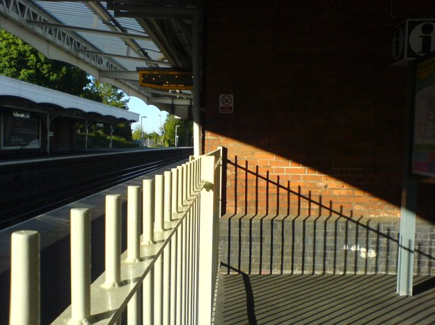 Expanded Dance Space & the private choreography of public space - Public Grieving, Purley Train Station on 3 May 2011. Photo - CiCi Blumstein