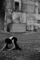 CiCi Blumstein dancing Makeshift Body in derelict space, Brighton. Photos: Christopher Hornzee-Jones