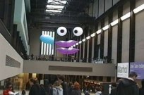 Feature Creature at Tate Modern. CiCi Blumstein 2002 - installation view from Turbine Hall entrance.