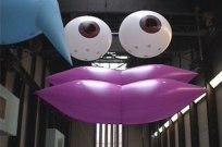 Feature Creature at Tate Modern. CiCi Blumstein 2002 - installation view from Turbine Hall mezzanine.