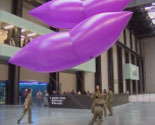 Feature Creature at Tate Modern. CiCi Blumstein 2002 - installation view from Turbine Hall mezzanine.