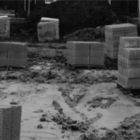 Fresh Page - project research photos, new library building site, Leeds. CiCi Blumstein 2001.