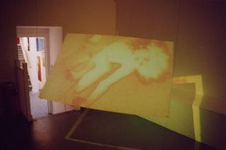 Cytomotion: Makeshift Body. CiCi Blumstein 2003 - installation view, AVIT Audio Visual Festival 2003.
