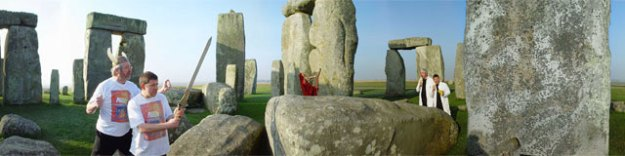 Habitat for authors The Two Steves, Stonehenge. CiCi Blumstein 2003.