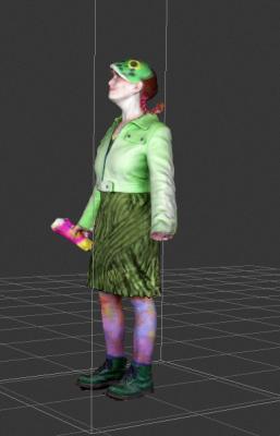 CiCi Blumstein aka Agent Amphibian: 3D character in development